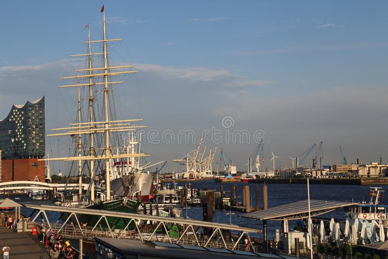 Bateau historique à Hambourg (Allemagne) images stock