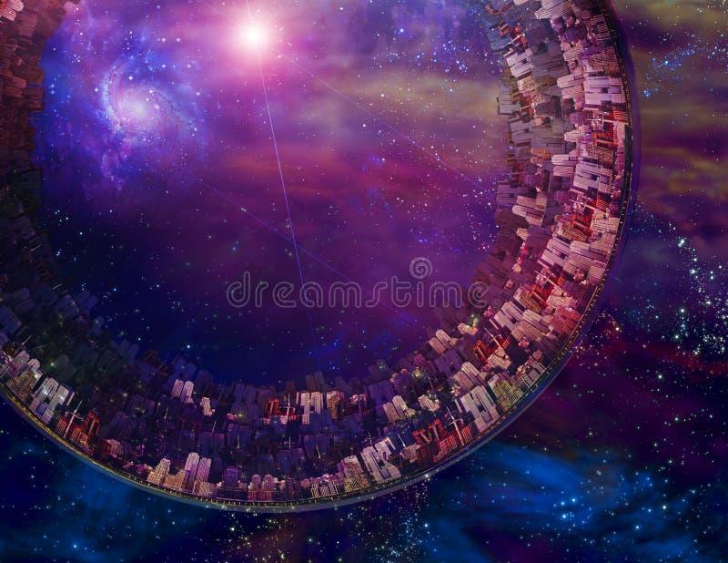 Bateau interstellaire Multi-De generations illustration libre de droits