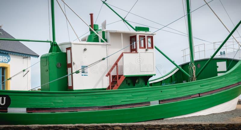 Bateau le corsaire sur le port de Joinville gauche, France photo stock