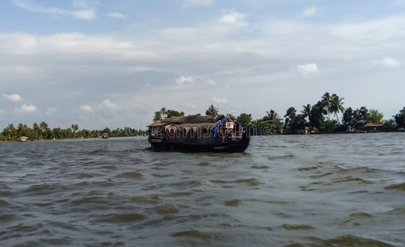 Bateau-maison de mares du Kerala photographie stock