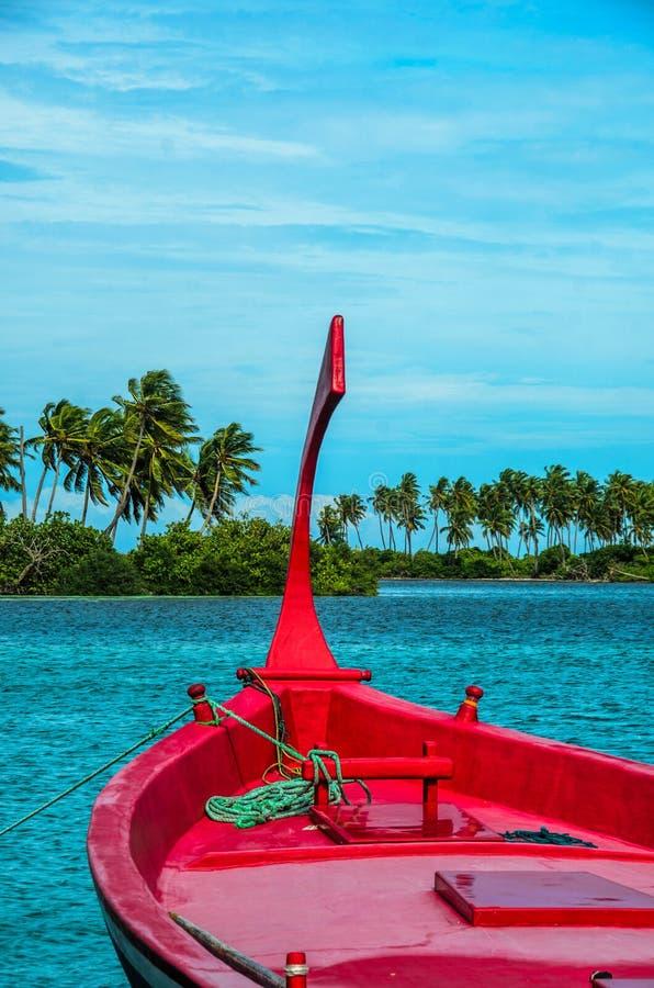Bateau maldivien traditionnel photographie stock libre de droits