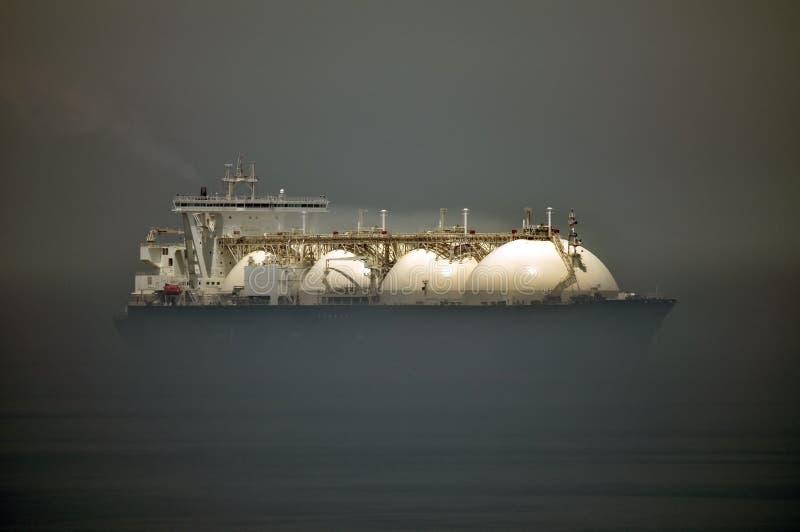 bateau normal de GNL de gaz porteur photographie stock libre de droits