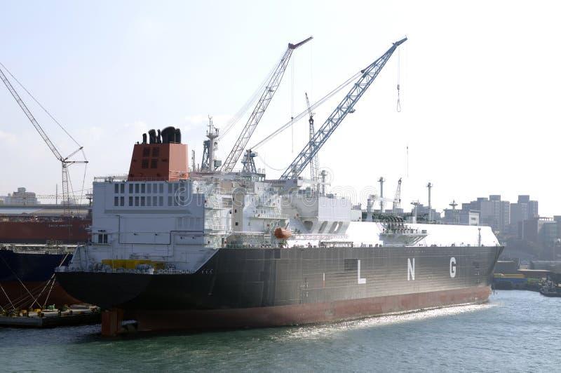 bateau normal de GNL du transporteur g image stock