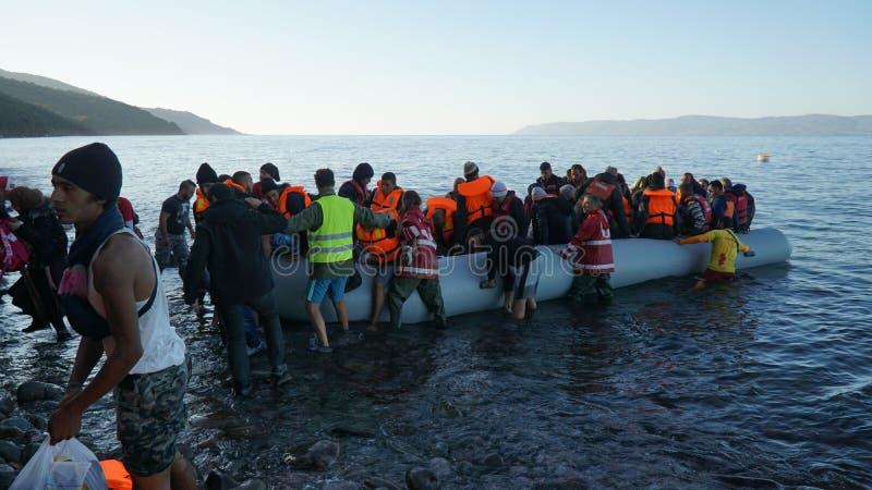 Bateau nouvellement arrivé de réfugié photos stock