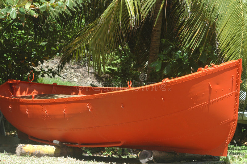 Bateau orange photographie stock