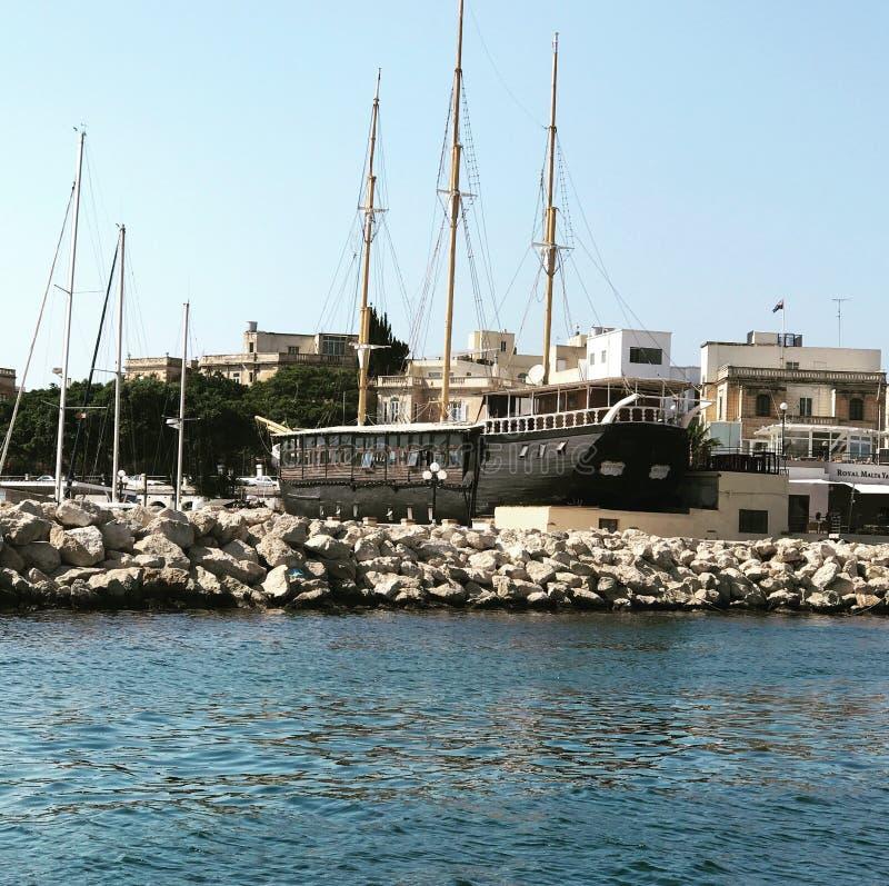 Bateau Sliema Malte de partie image libre de droits