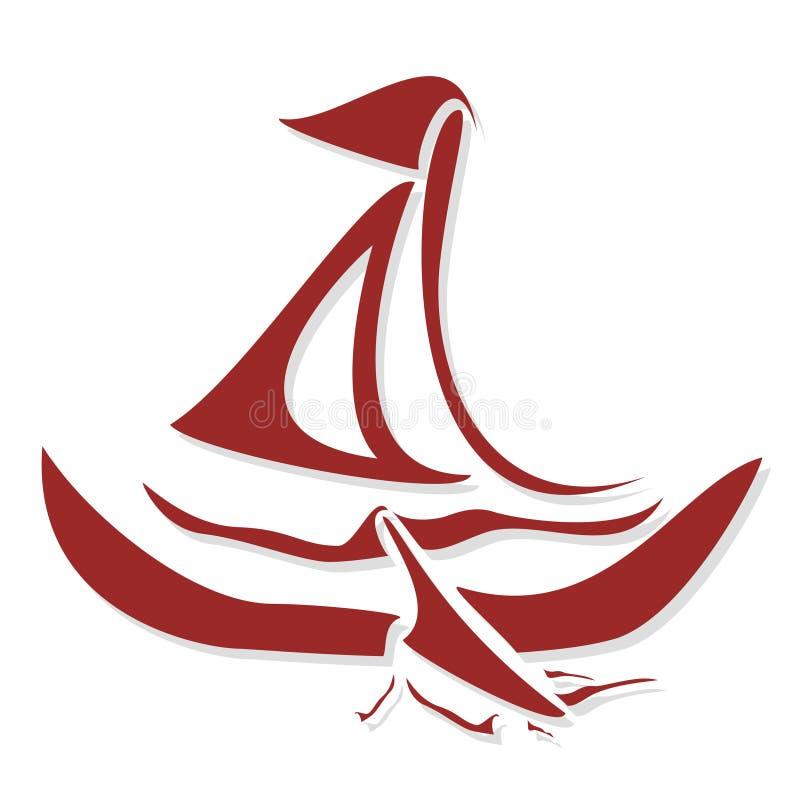 bateau stylized illustration de vecteur
