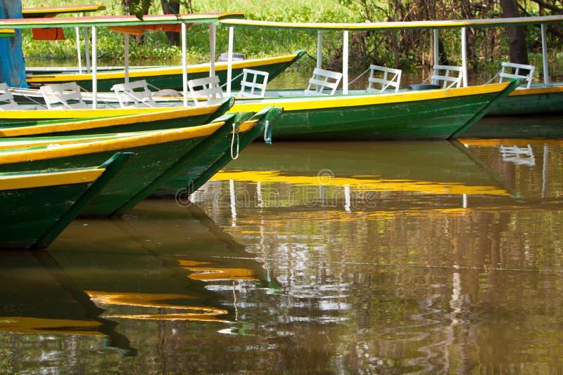 Bateau sur le fleuve d'Amazone photographie stock libre de droits