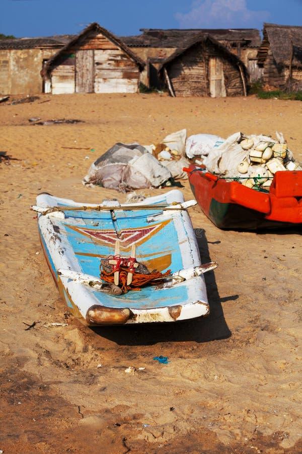 Bateau sur le Sri Lanka images libres de droits