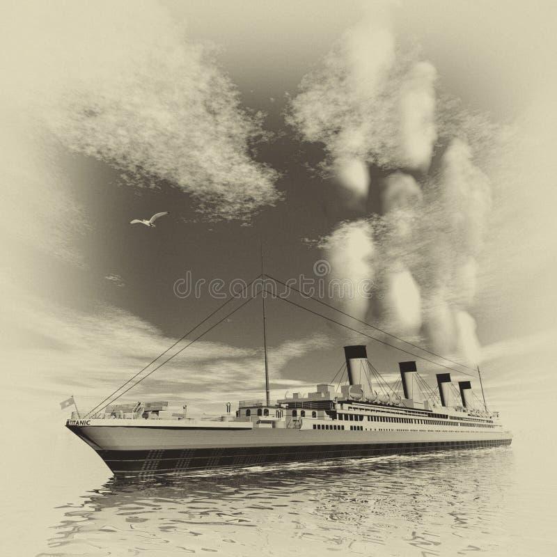Bateau titanique - 3D rendent illustration libre de droits