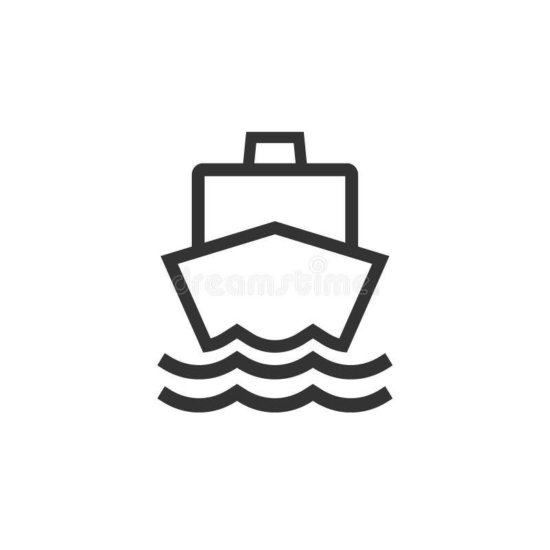 Bateau, voile, navigation, bateau, icône de yacht Illustration de vecteur, conception plate illustration libre de droits