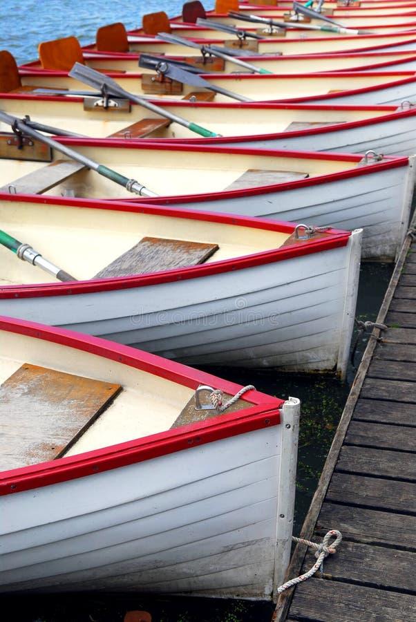 Bateaux à rames photographie stock