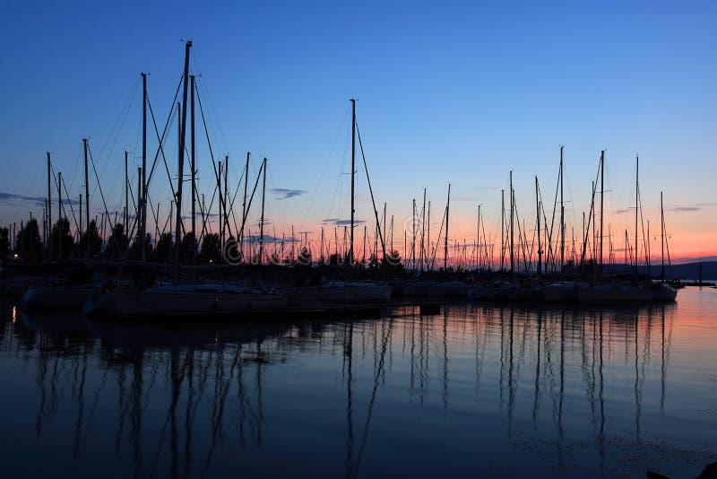 bateaux à voiles photographie stock libre de droits
