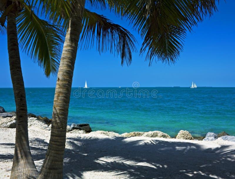 Bateaux à voiles outre de Key West image stock