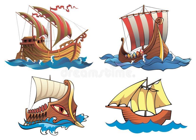 bateaux illustration de vecteur