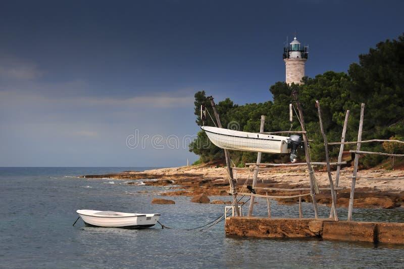 Bateaux accrochants de Savudrija, Istria, Croatie photo stock
