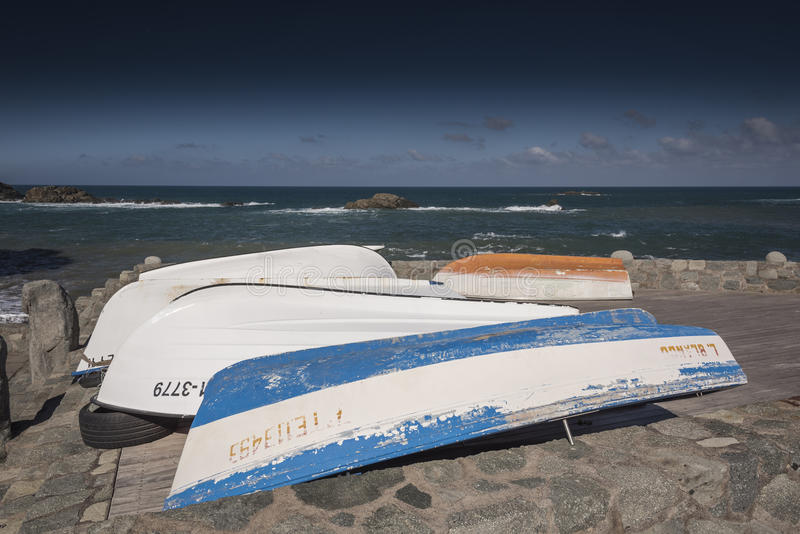 Bateaux chez Playa Taganana Ténérife photographie stock