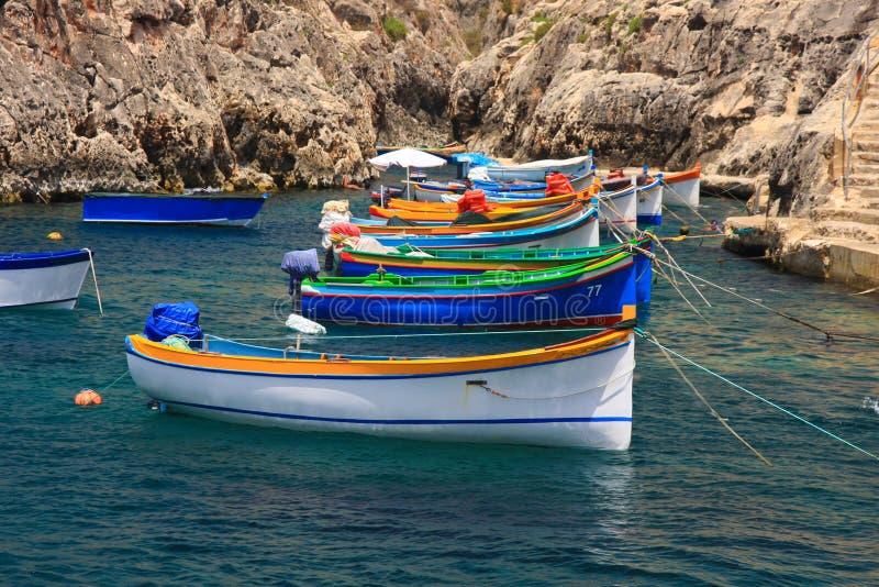 Bateaux colorés image libre de droits