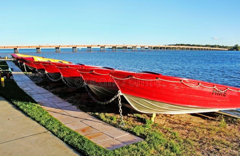 Bateaux d'île de Bribie image libre de droits