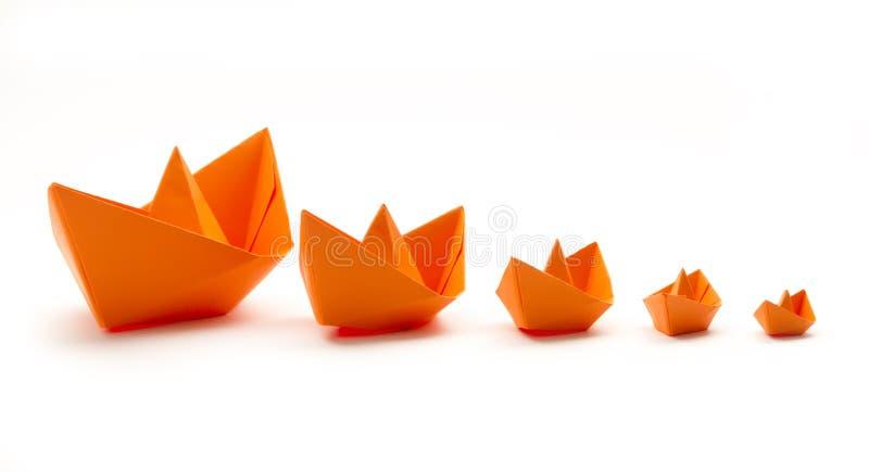 Bateaux d'origami photographie stock
