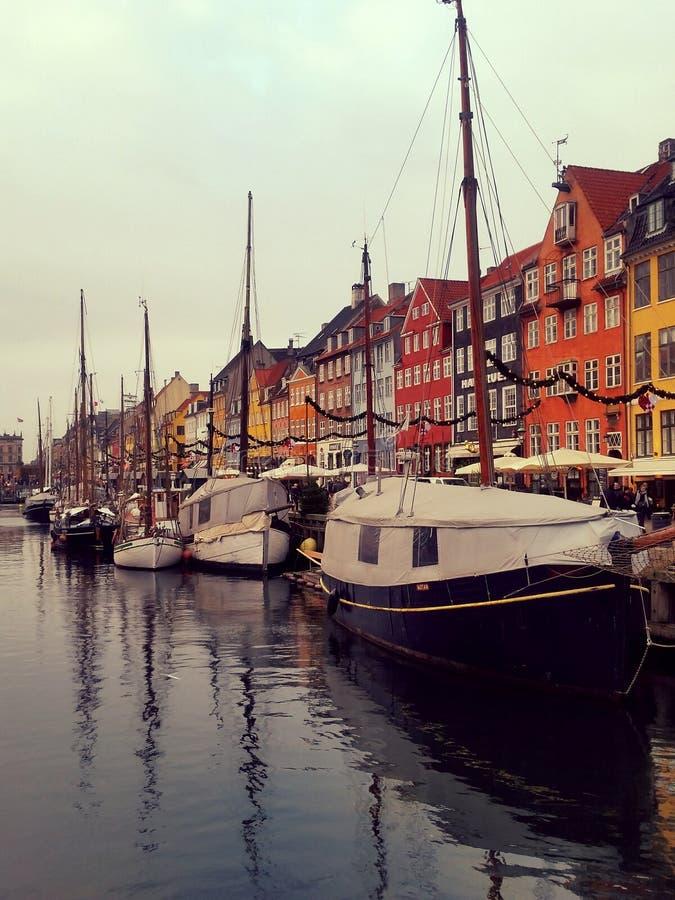 Bateaux dans Copengahen photo stock