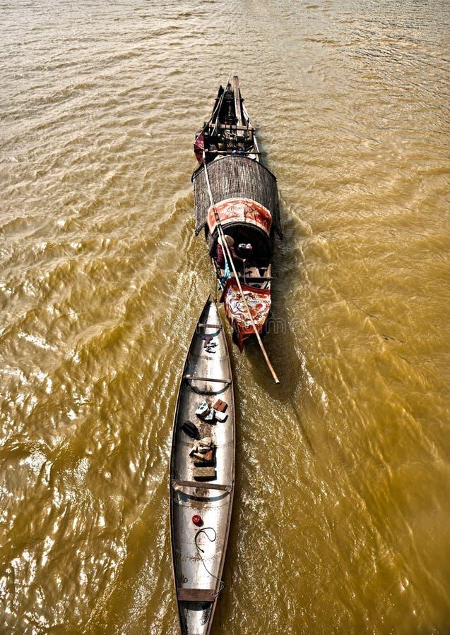 Bateaux dans le Mekong, Vietnam. photo stock
