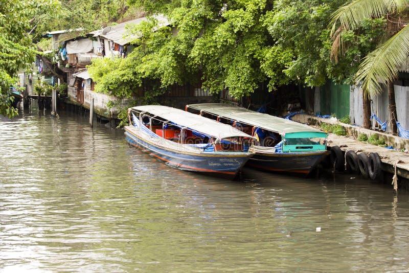 Bateaux de fleuve de Bangkok photo stock