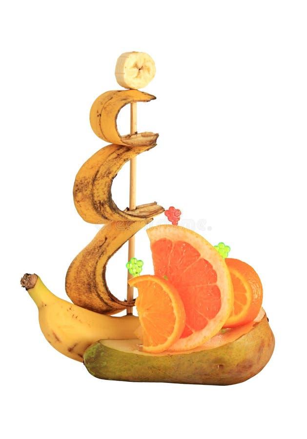 bateaux de fruit images libres de droits