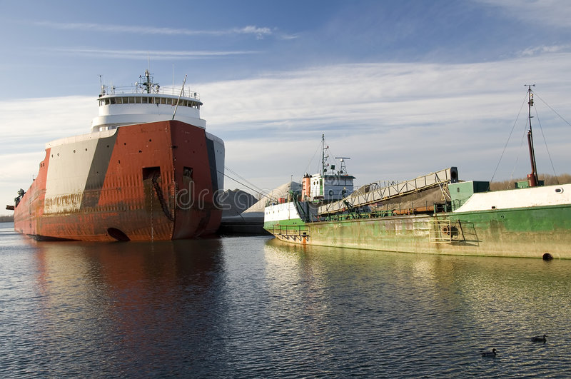 bateaux de lac d'Erie images stock