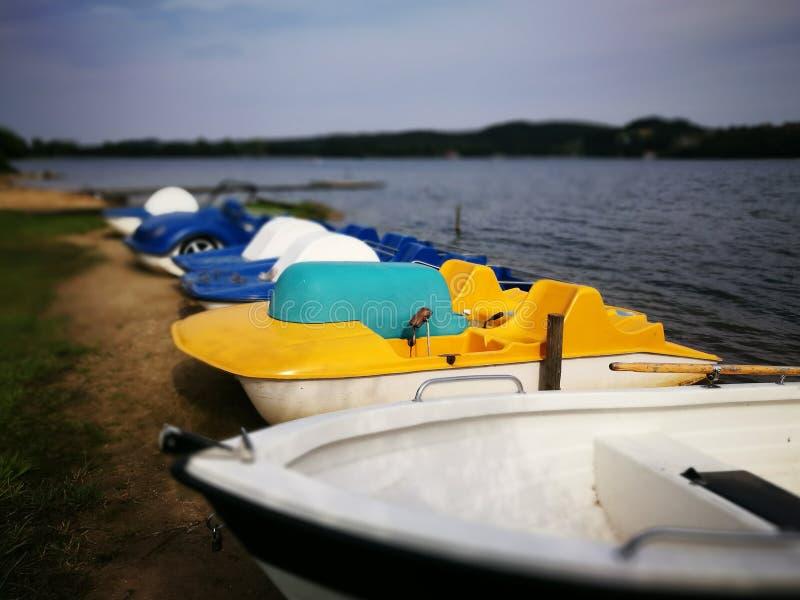 Download Bateaux de pédale image stock. Image du plage, poland - 76089185