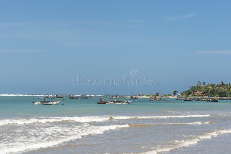 Bateaux de pêche dans Sri Lanka photos stock