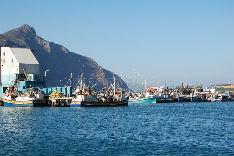 Bateaux de pêche de baie de Hout images libres de droits