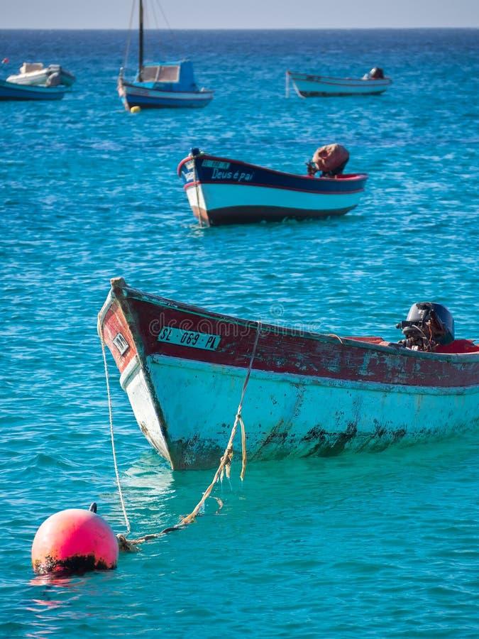 Bateaux de pêche du Cap Vert images stock