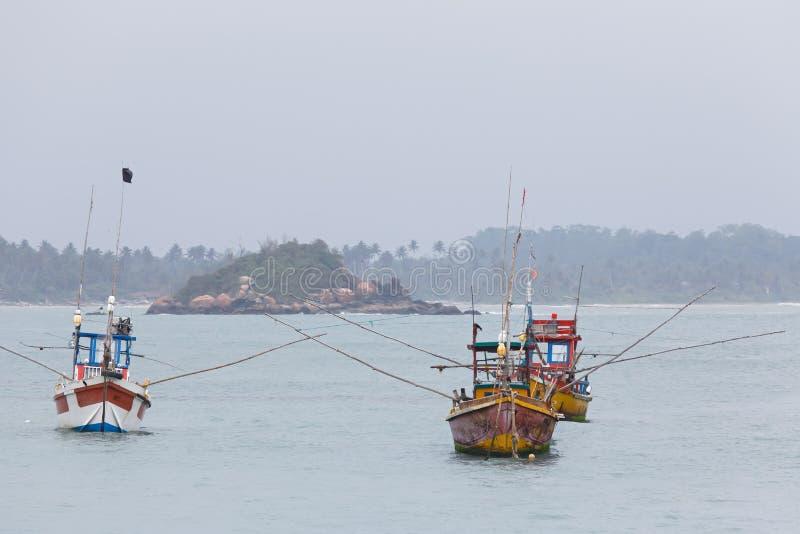 Bateaux de pêche, Galle, Sri Lanka photos libres de droits