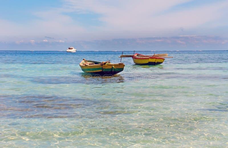 Bateaux de pêche haïtiens images libres de droits