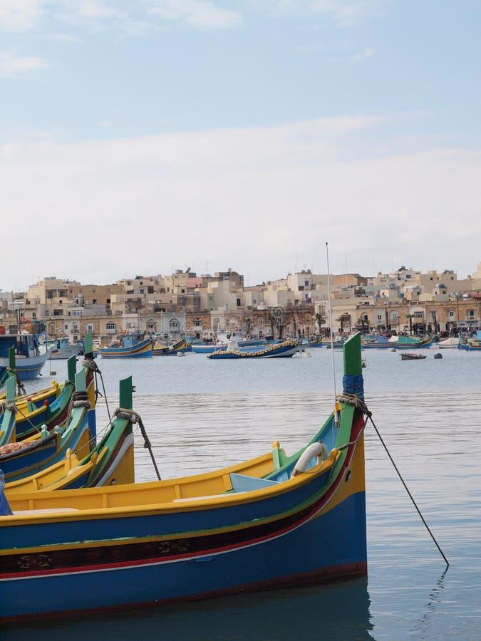Bateaux de pêche traditionnels, Malte photographie stock libre de droits
