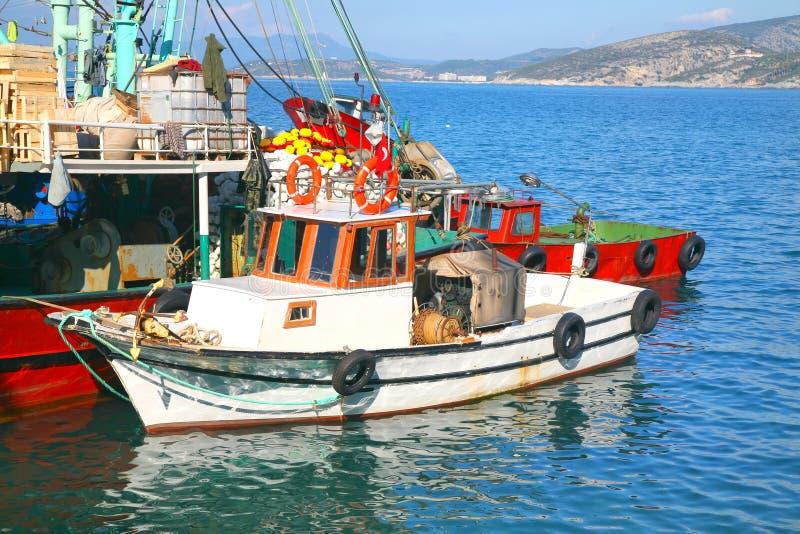Bateaux de pêche turcs image stock