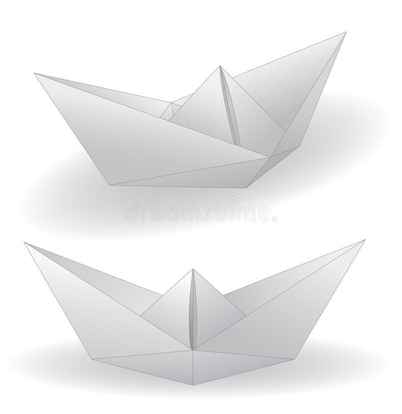 bateaux de papier illustration stock