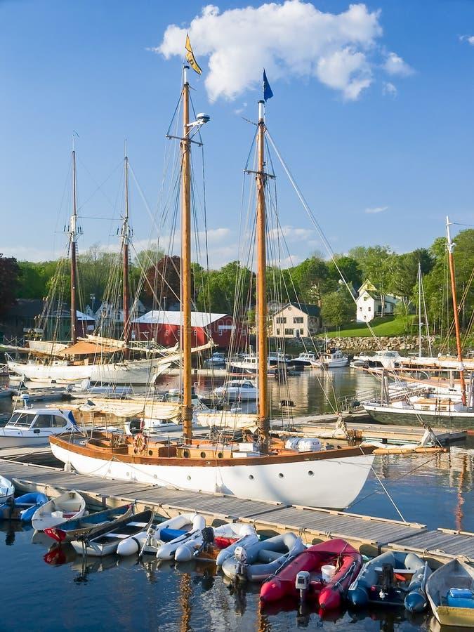 Bateaux de port, Camden Maine photographie stock libre de droits