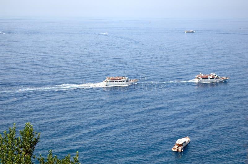 Bateaux en Riviera Ligure di Levante image libre de droits