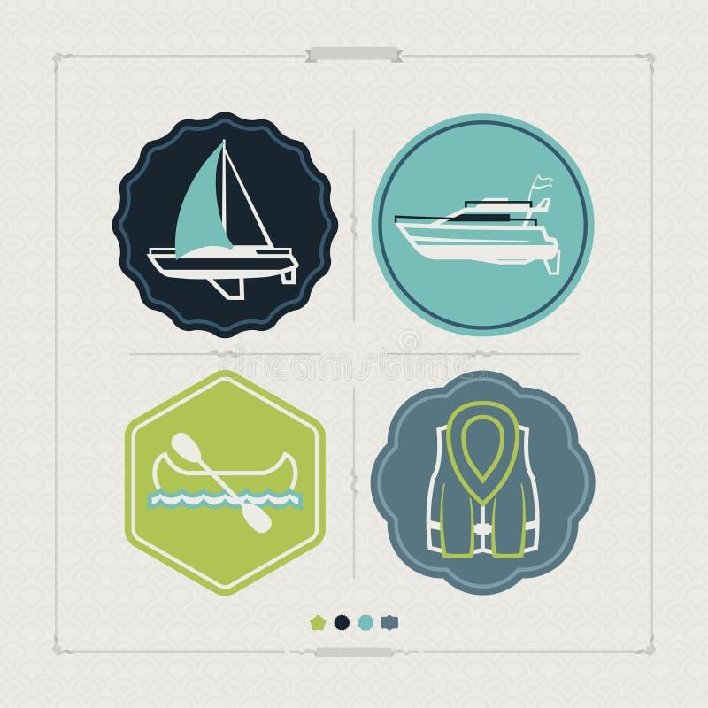 Bateaux et bateaux illustration stock