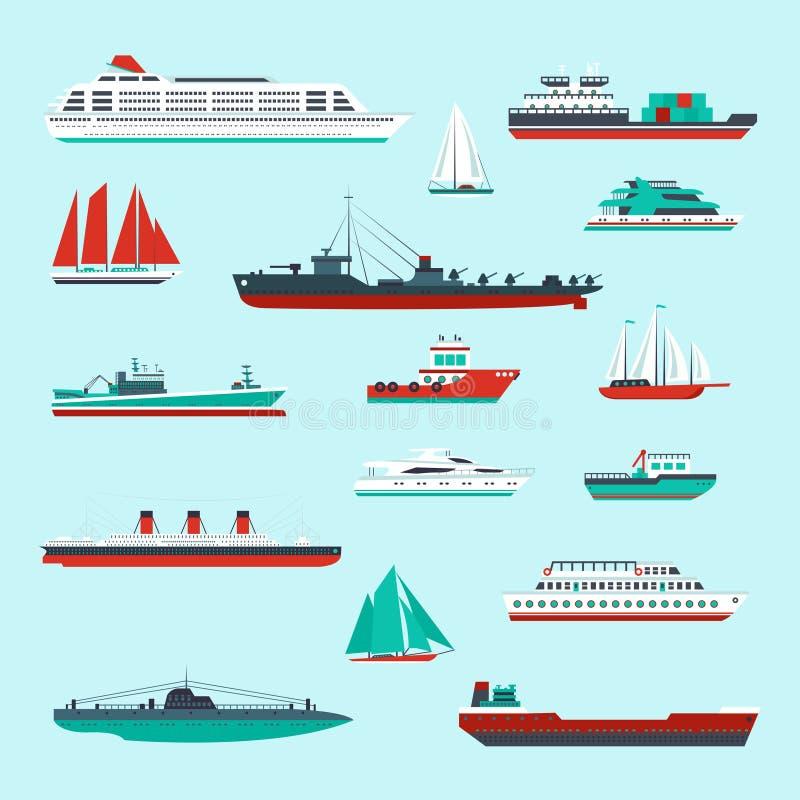 Bateaux et bateaux réglés illustration libre de droits