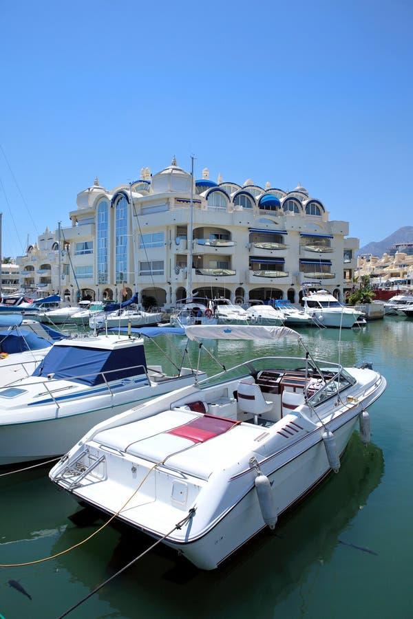 Bateaux et yachts Benalmadena photographie stock