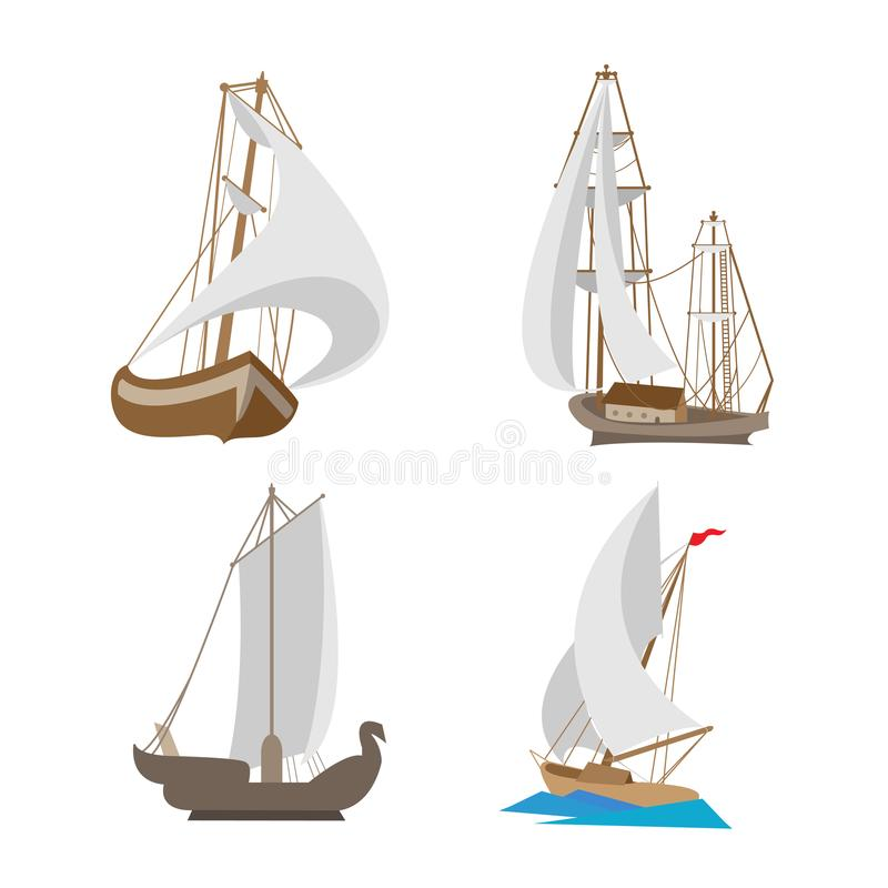 Bateaux miniatures de voyage de jouet photo stock