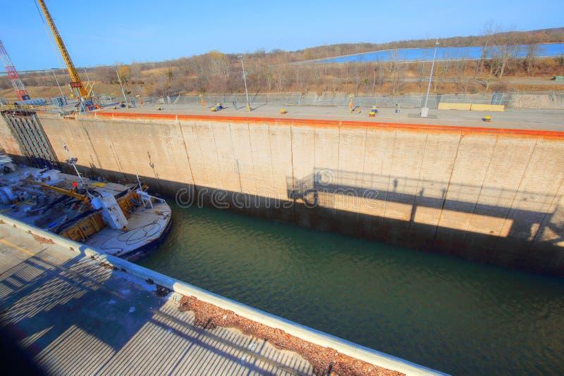 Bateaux passant par Welland Canal photo libre de droits