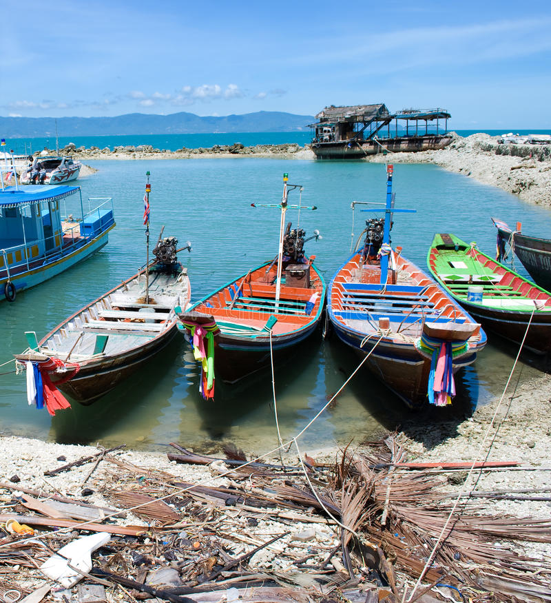 bateaux thaïs photo stock