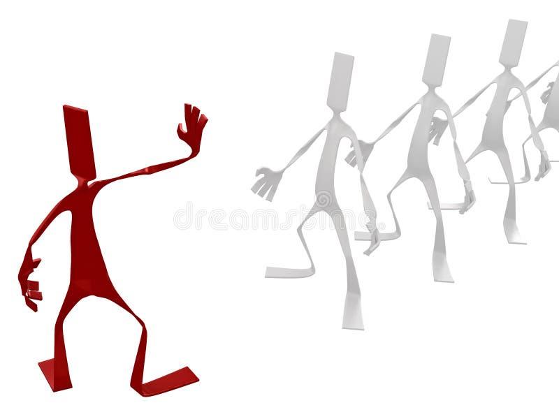 Batente! ilustração royalty free