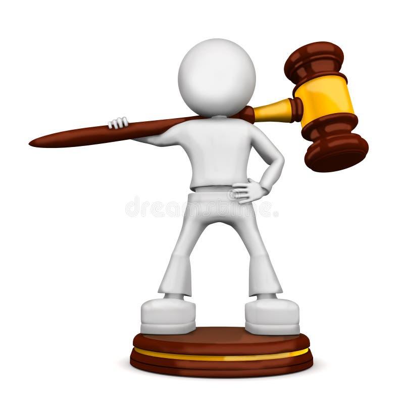 Batente de justiça ilustração do vetor