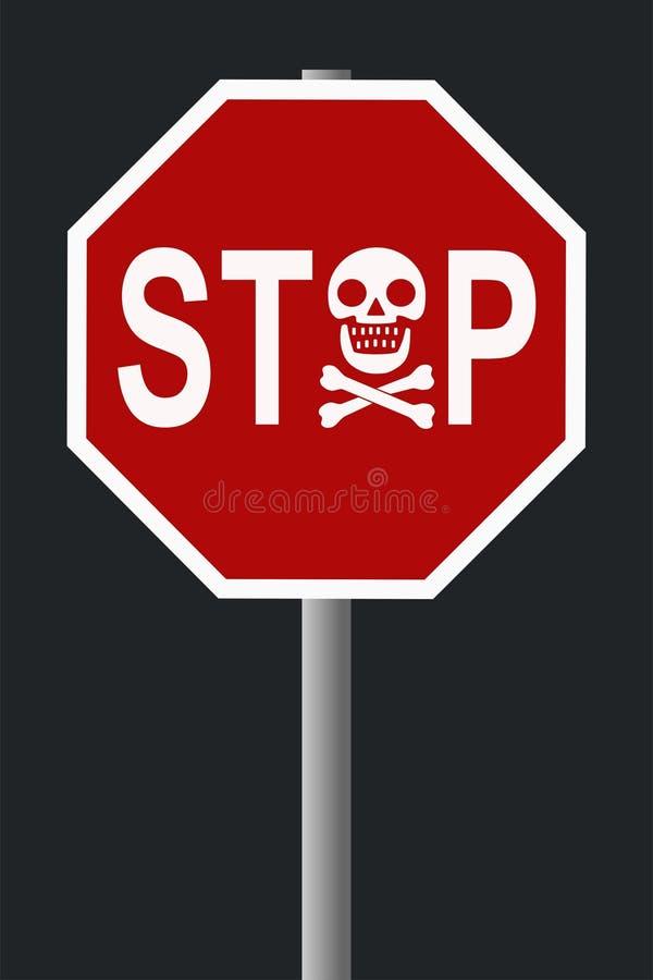 Batente - sinal do perigo ilustração do vetor