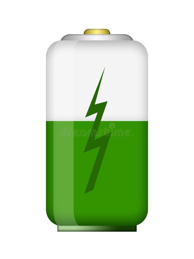 Download Batería stock de ilustración. Ilustración de icono, verde - 42427599